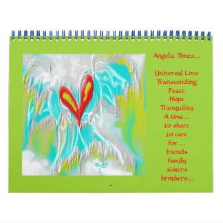 Épocas angelicales calendario de pared