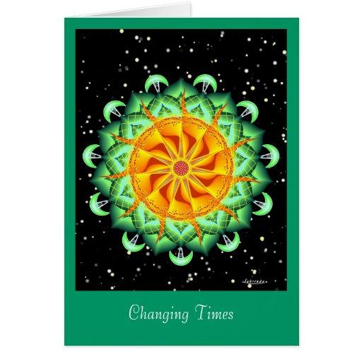 Épocas cambiantes tarjeta de felicitación