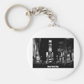 Épocas Cuadrado-Nueva York Llavero Redondo Tipo Pin