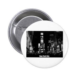 Épocas Cuadrado-Nueva York Pin Redondo 5 Cm