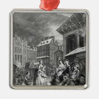 Épocas del día mañana 1738 ornamento para arbol de navidad