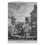 Épocas del día, tarde, 1738 tarjeta de felicitación