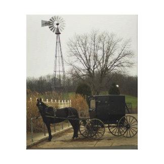Épocas más simples - país de Amish, Sugarcreek Impresión En Lona Estirada