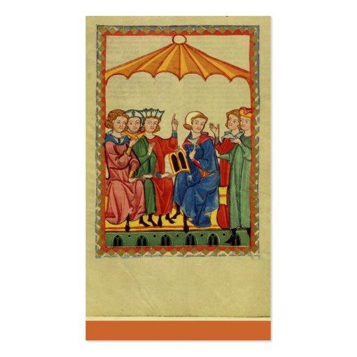 Épocas medievales tarjetas de visita