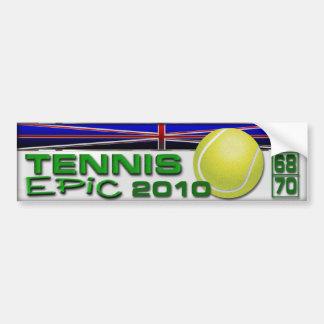 Epopeya del tenis etiqueta de parachoque