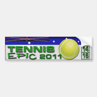 Epopeya del tenis pegatina para auto