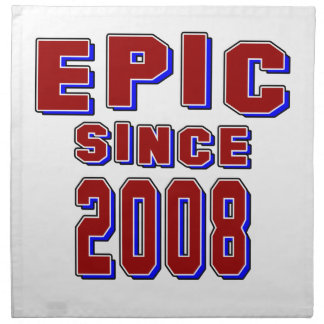Epopeya desde 2008 servilletas imprimidas