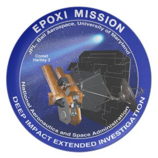 EPOXI Mission Logo Melamine Plate