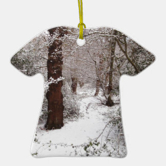 Epping Forest in the snow Christmas Ornament
