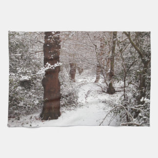 Epping Forest in the snow Hand Towel