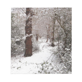 Epping Forest in the snow Notepads