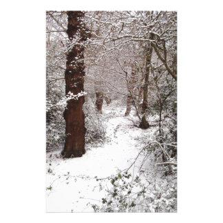 Epping Forest in the snow Personalised Stationery