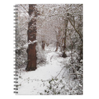 Epping Forest in the snow Spiral Note Book