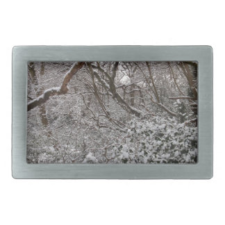 Epping Forest In Winter Belt Buckles