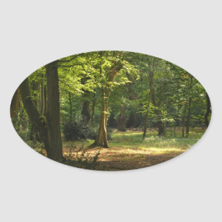 Epping Forest Oval Sticker