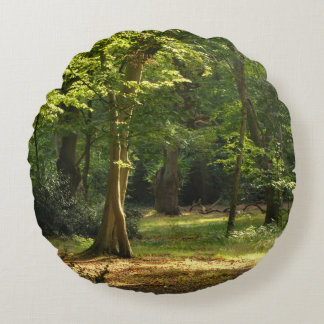 Epping Forest Round Pillow