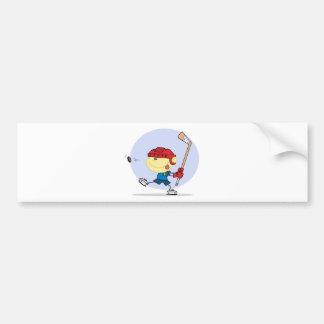 eps_Hockey-kid-6 Bumper Sticker