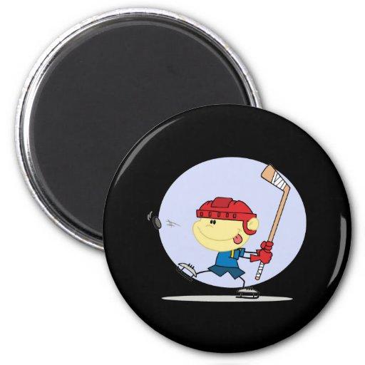 eps_Hockey-kid-6 Refrigerator Magnet