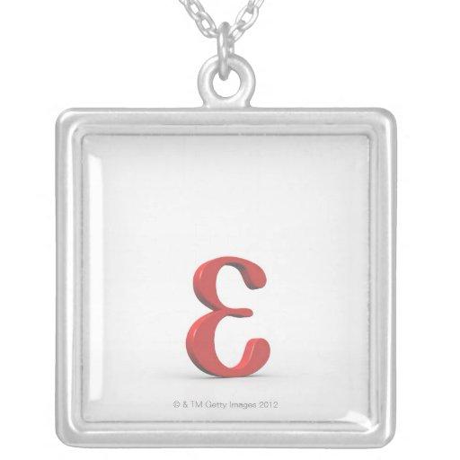 Epsilon 2 personalized necklace