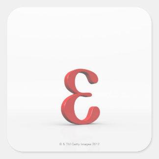Epsilon 2 square sticker