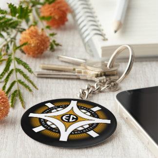 Epsilon Chi Black Background Keychain