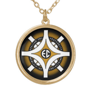 Epsilon Chi Black Background Necklace