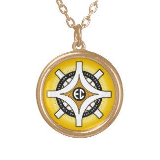 Epsilon Chi Gold Background Necklace