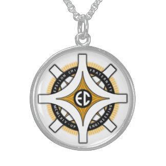 Epsilon Chi White Background Necklace