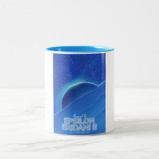 Epsilon Eridani b sci-fi Travel poster Two-Tone Coffee Mug