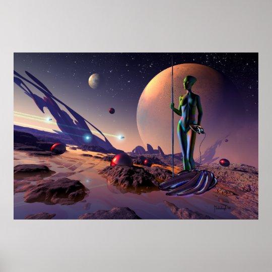 Epsilon hunter - sci-fi print