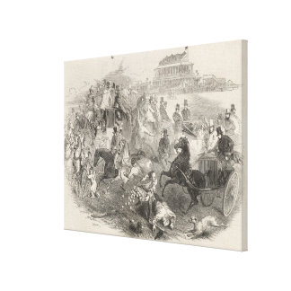 Epsom Races, 'Derby Day': Leaving the Course Canvas Print
