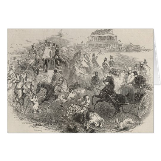 Epsom Races, 'Derby Day': Leaving the Course Card