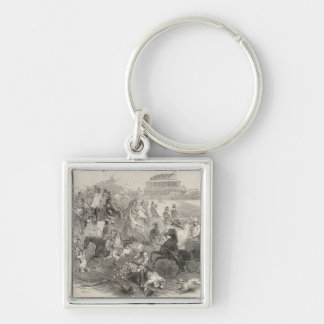 Epsom Races, 'Derby Day': Leaving the Course Keychain