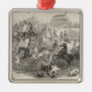 Epsom Races, 'Derby Day': Leaving the Course Metal Ornament