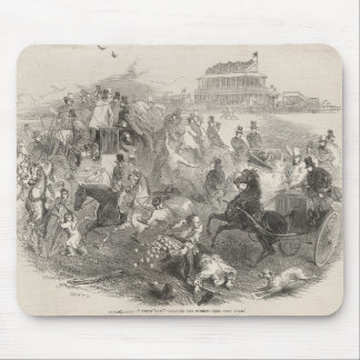 Epsom Races, 'Derby Day': Leaving the Course Mouse Pad