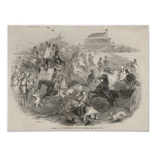 Epsom Races, 'Derby Day': Leaving the Course Poster