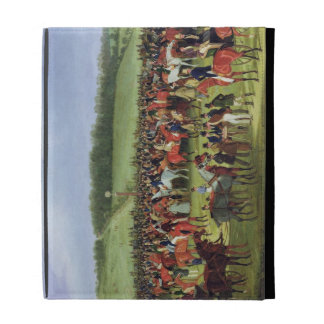 Epsom Races: The Betting Post (oil on canvas) iPad Folio Covers