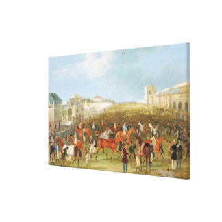 Epsom Races: The Race Over (oil on canvas) Stretched Canvas Print