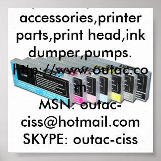 Epson 4450,Epson 4880 Refillable Cartridge etc. Poster