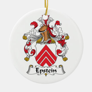 Epstein Family Crest Double-Sided Ceramic Round Christmas Ornament