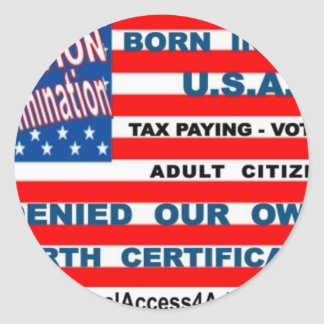 equal access flag tee2 classic round sticker