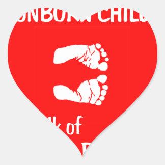 Equal Baby Feet Heart Sticker