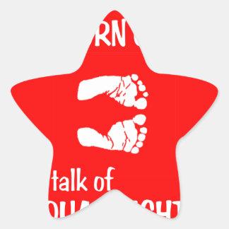 Equal Baby Feet Star Sticker
