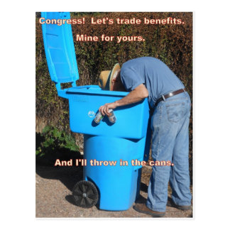 Equal benefits for all postcard