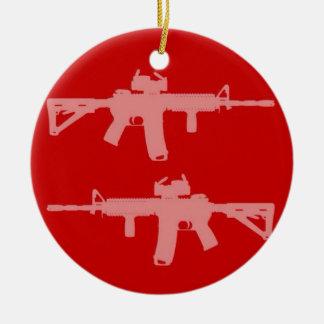Equal gun rights ar15 ceramic ornament