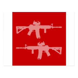 Equal gun rights ar15 postcard