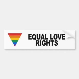 Equal Love Rights Car Bumper Sticker