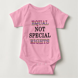 Equal, not special, rights baby bodysuit