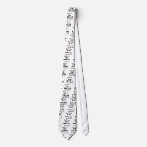 Equal, not special, rights tie