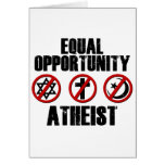 Equal Opportunity Atheist Greeting Card